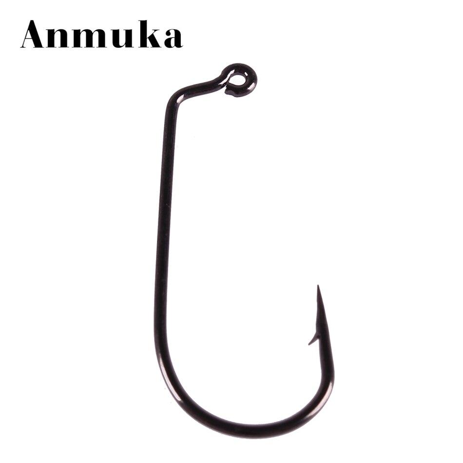Anmuka 30PCS 50pcs Carbon Steel 60 degree Jig <font><b>Hook</b></font> Fishing <font><b>Hooks</b></font> 2/0 3/0 4/0 5/0 6/0