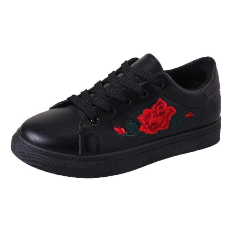 Shoes Women Embroidery Shoes Woman Moccasins Cute White Casual Lolita Shoe Espadrilles Zapatillas Mujer Tufli Tenis feminino A60 цена и фото