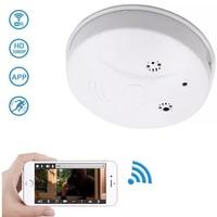 Ip Cameras Smoke Sensor Security Remote Monitor Micro Home Alarm UFO Shape Wireless 1080P WiFi Ip Camera With App