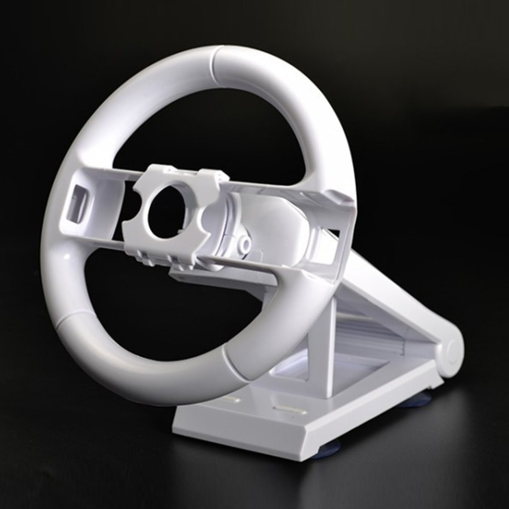 High Performance Racing Game Steering Wheel Steering Racing Wheel Handle Grip Suitable For Wii For Mario Kart White hot controller for wii pink steering kart racing wheel for nintendo remote game joystick free shipping