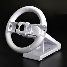 Alta Performance Racing Game Steering Wheel Racing Wheel Steering Aperto do Punho é Adequado Para Wii Para Mario Kart Branco