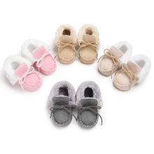 New Winter Baby Shoes Boots Infants Warm Shoes Fur Wool Girls Baby Booties Sheepskin Genuine Leather Boy Baby Boots