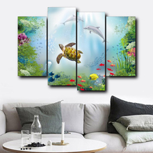 Laeacco Underwater World Sea Fish Tortoise Animal Posters Prints Canvas Painting Home Living Room Bedroom Decor Wall Art Picture