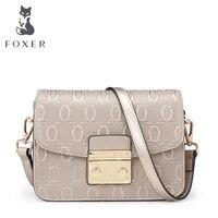 FOXER Brand Women S Cow Leather Shoulder Bag Crossbody Bag Messenger Bag For Women