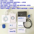TARJETA RFID NFC ACR122U 13.56 MHZ y 125 KHZ ID Lector de Tarjetas y escritor programador grieta clon M1 uid cambiable Tarjeta EM4100 Rfid t5577