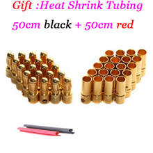 20pairs/lot 3.5mm Gold Bullet Connector Battery ESC Plug