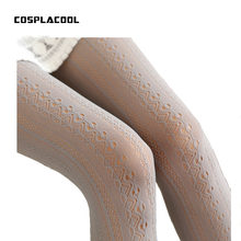 2018 Fashion Women Pantyhose Stocking Lace Sexy Personality Hollow out Knee Boots Fitness Tights Female(China)