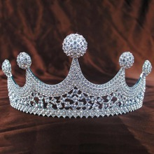 hot deal buy girls lady crystal crowns bride tiara fashion queen for wedding crown headpiece wedding hair jewelry accessories high quality