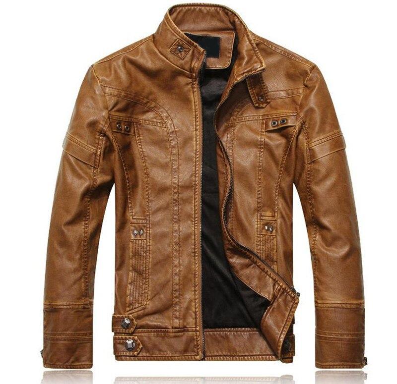 vent Manteaux En De brown Moto Biker yellow black Masculina yellow Couro Hommes Veste black Coupe Jaqueta Brown Cuir RPUCx