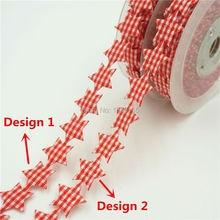 Free shipping 3 4 18mm scotish satr satin ribbons packing 10m roll wholesale gift wedding Christmas