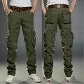 2016 брюки-карго камуфляж военный стиль моды Брюки Мужчины Мульти Карман Камуфляжные Штаны Тактические Брюки pantalon homme
