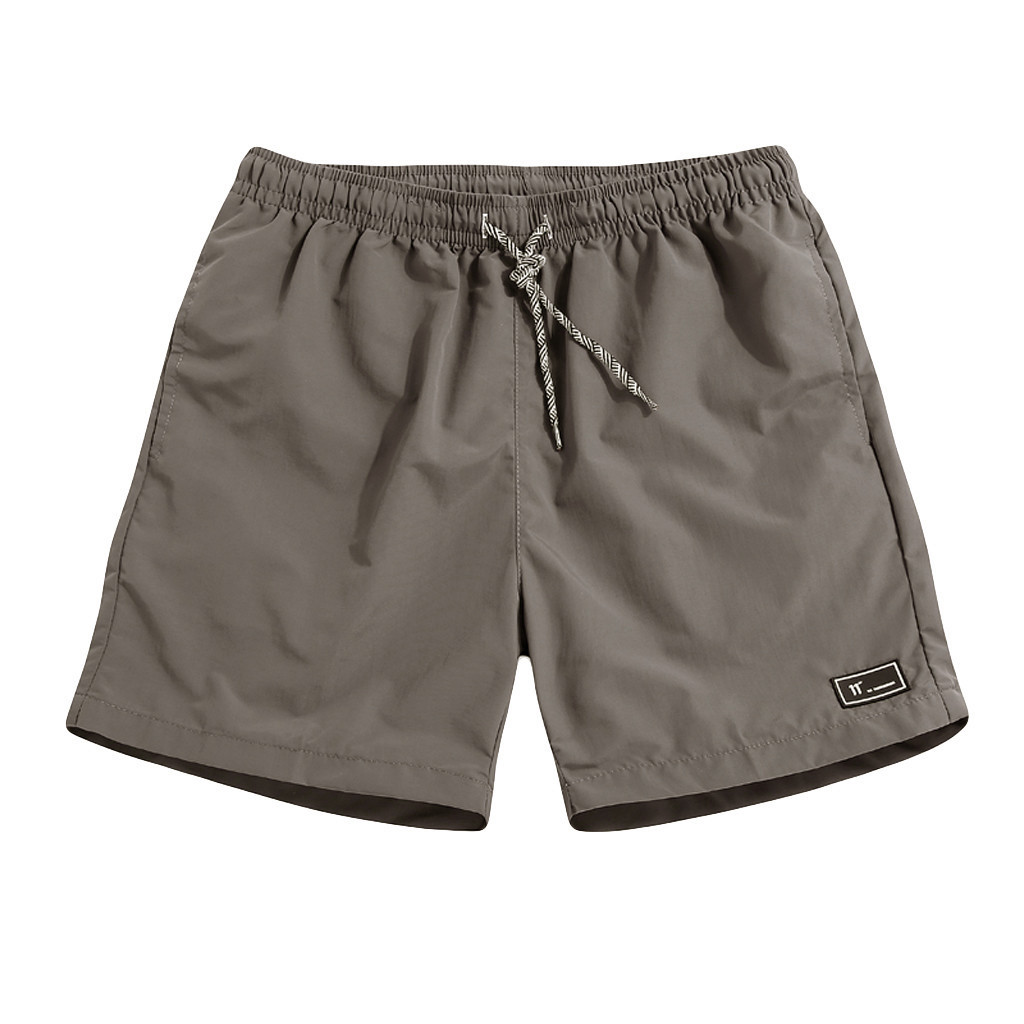Men Shorts Summer Plus Size Thin Quick Dry Shorts Beach Trousers Casual Loose Sports Short Mid Waist Elastic Waist Shorts  C0430