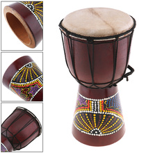 Sports Entertainment - Musical Instruments - 6 Inch Professional African Djembe Drum Classic Painting Wood Goat Skin Good Sound Musical Instrument