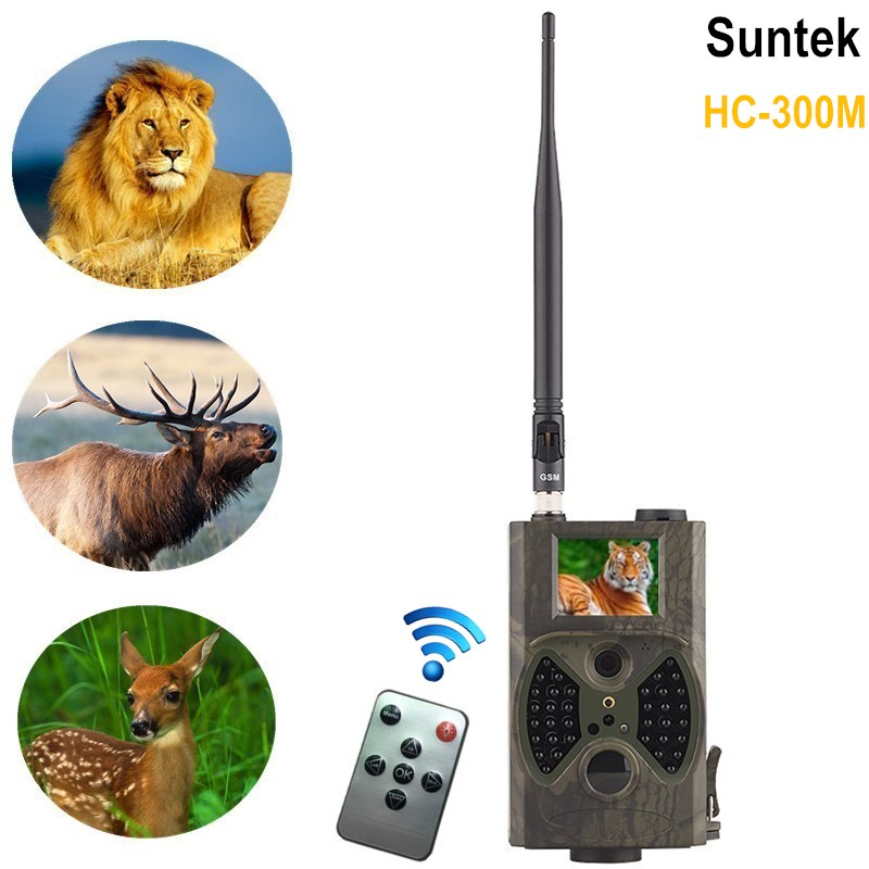 12MP 1080 P Chasse Caméra GPRS GSM HC 300 M Suntek avec Détection de mouvement Piège animaux photos nuit vision 940nm Trail Caméra Email