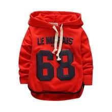 Одежда хорошего качества для маленьких девочек и мальчиков 68 свитер флисовая Детская куртка с капюшоном повседневное хлопковое пальто для малышей Детские топы с длинными рукавами