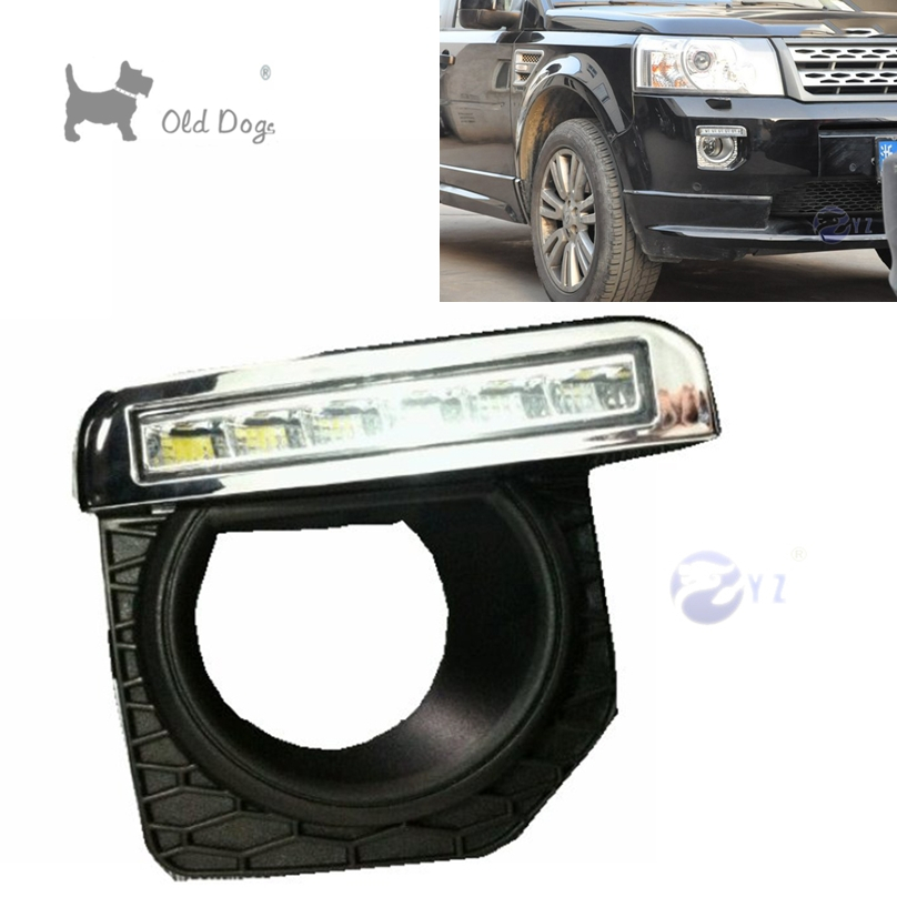 2 pcs car styling For Land Rover Freelander 2 LED DRL Daytime driving Running Lights Daylight