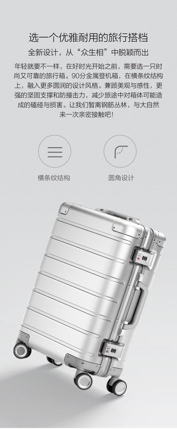 alumínio-magnésio XM 90 Rolando Bagagem Spinner Mala De Viagem de Marca de Luxo
