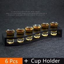 6 Pcs Set Liquore Spirito Tazza Pinta Copo Colpo di Vetro Mini Bicchieri Da Vino Verre Bicchieri Vetro Copas De Vidrio Doom Tete de Mort Vasos