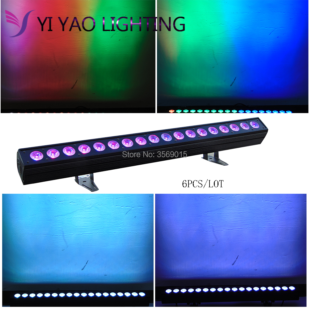 Stage Lighting Effect 6pcs/lot Disco Dj 18pcs Rgbwa Led Wall Washer Light 18x12w Rows Dmx Lights & Lighting
