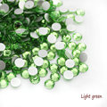 Super Brillante SS3-SS34 Luz verde Ópalo de Color 3D Nail Art Decoraciones Glitter Hotfix Rhinestones Flatback Strass Piedras