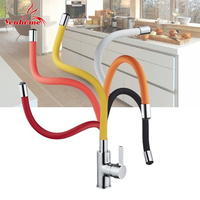 Colors Silica Gel Nose Any Direction Rotating Kitchen Tap Torneira Cozinha Single Handle Cold And Hot