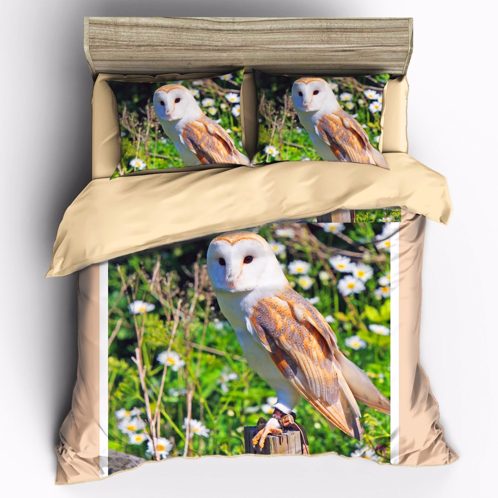 AHSNME Can be customized high-definition print owl animal bedding set King Quenn Full Double Twin Single Duvet Cover setAHSNME Can be customized high-definition print owl animal bedding set King Quenn Full Double Twin Single Duvet Cover set