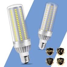 2pcs LED Bulb E27 50W Lamp 220V 5730 Corn E26 25W 35W High Power Light 110V Fan Cooling No Flicker Outdoor Lighting