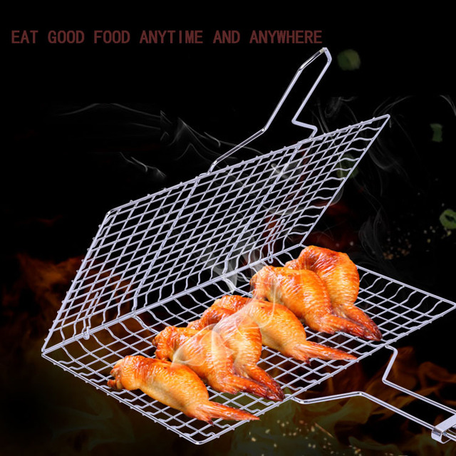 BBQ Mesh Family barbecue grill nickel-chromium outdoor barbecue picnic kitchen BBQ net grill