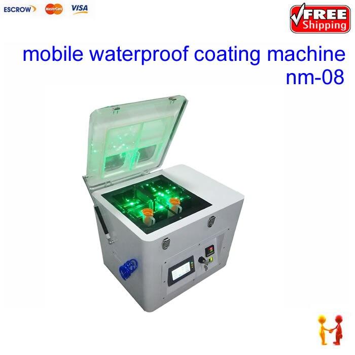 2018 máquina de revestimento máquina de spray à prova d' água para o telefone móvel nano nm-08