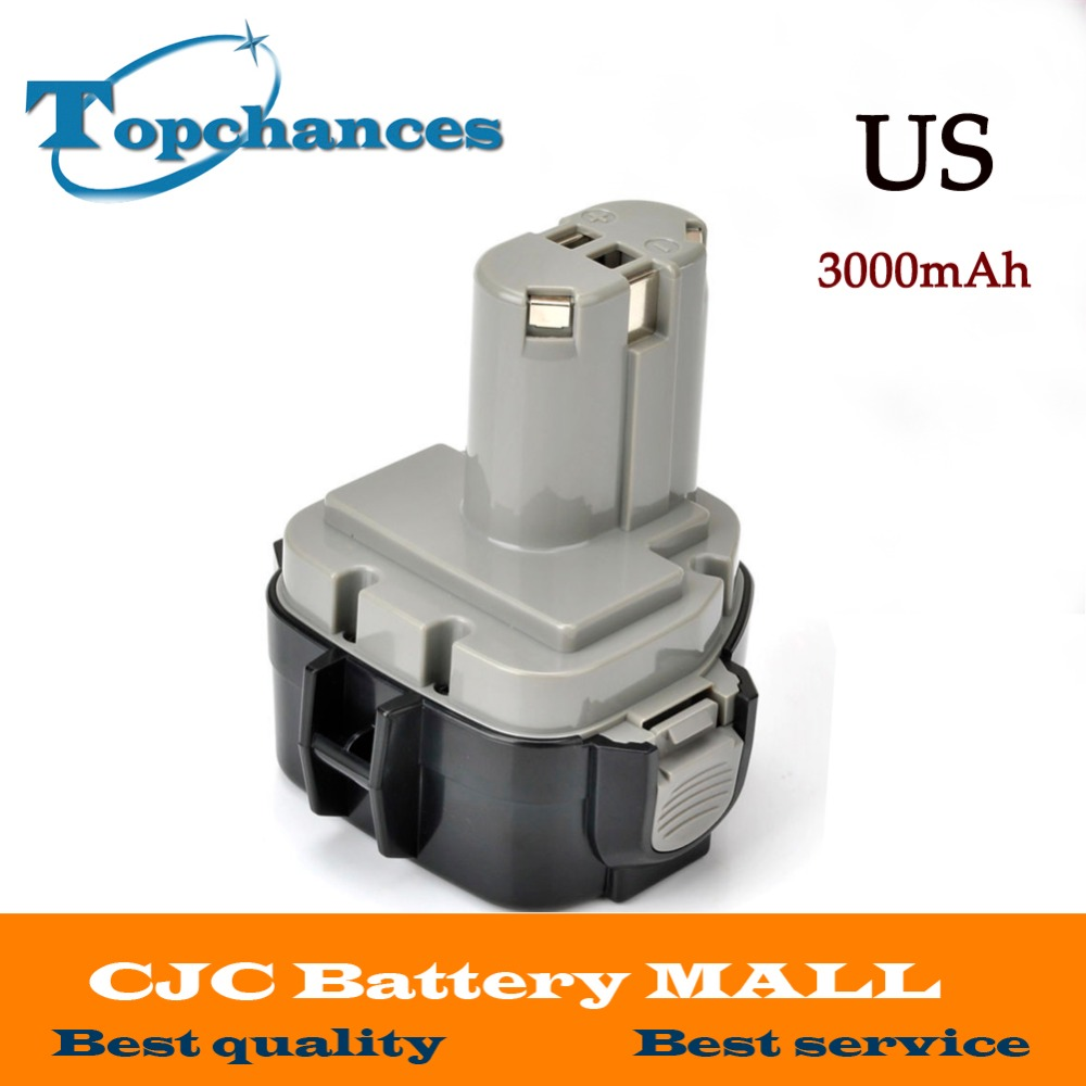 US Fast Shipping High Quality 12V 3000mAh Ni-MH Battery for MAKITA 1235 1233 192698-A 1050D 4013D 6227D 8413D newest us high quality 12v 2000mah ni cd battery for bosch gsr 12 ve 2 2000mah ni cd bat043 bat045 bta120 26073 35430