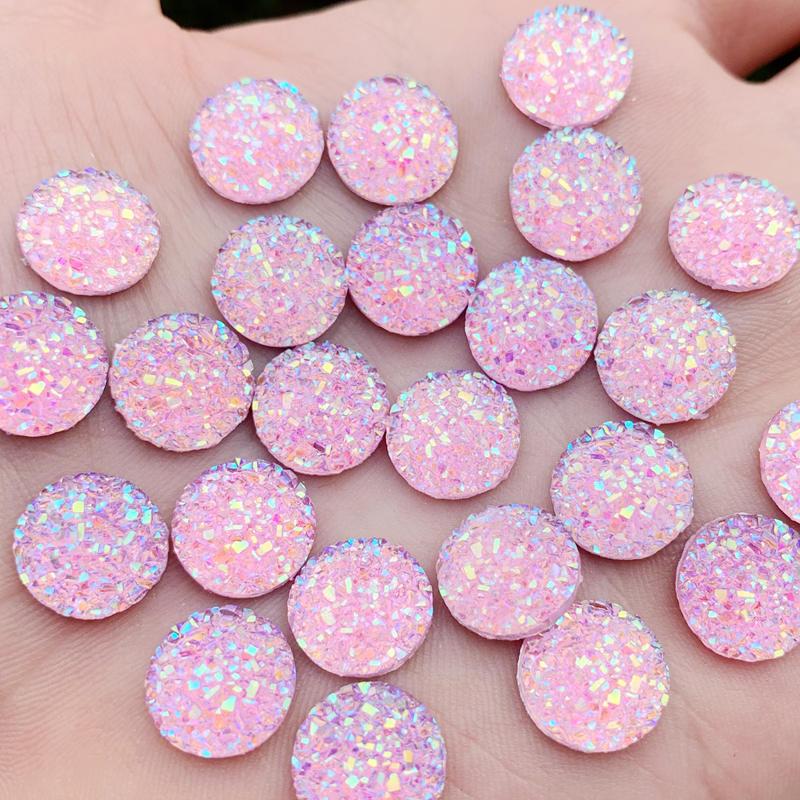 Bâton de couleur AB 480 pièces 12mm   Strass sur boutons, résine ronde brillante, pierres Strass cristal, diy-A554 * 5