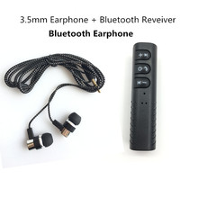 Bluetooth Receiver Earphone Wireless Headphone Handsfree Bluetooth Headset 3.5mm Wired Earphones With Mic For Phone