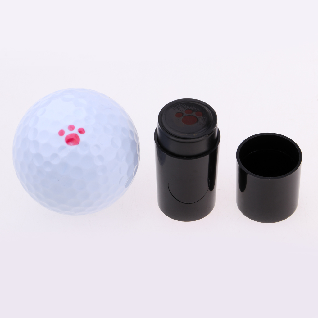 2Pcs Plastic Paw Lips Golf Ball Stamper Stamp Marker Impression Seal Golfer Souvenir