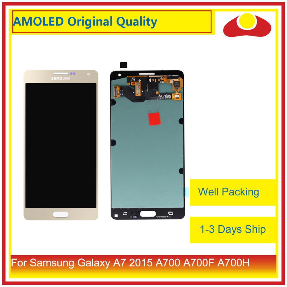 Image 2 - ORIGINAL For Samsung Galaxy A7 2015 A700 A700F SM A700F LCD Display With Touch Screen Digitizer Panel Pantalla Complete Assembly-in Mobile Phone LCD Screens from Cellphones & Telecommunications