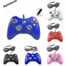 Gamepad para xbox 360 controlador com fio para xbox 360 controle com fio joystick para xbox360 controlador de jogo gamepad joypad