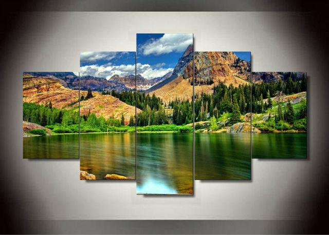 5 panels canvas prints