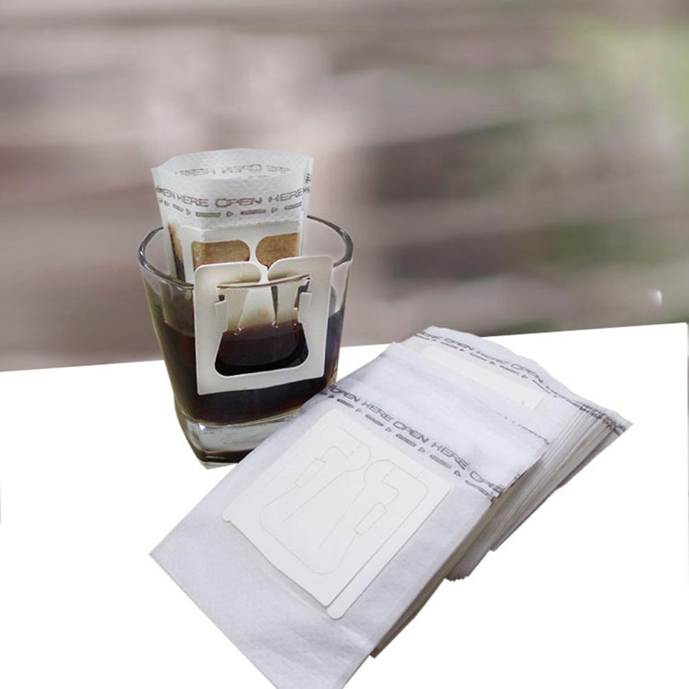 50Pcs:  50Pcs Home Office Travel DIY Drip Brew Coffee Filter Bag Paper Hanging Ear Style Coffee Filter Bag Coffeeware - Martin's & Co