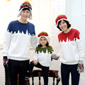 Family Matching Clothes 2016 Autumn Winter Family Look Long Sleeve Snowflake Family Roupas Father Son Mother Daughter Clothes