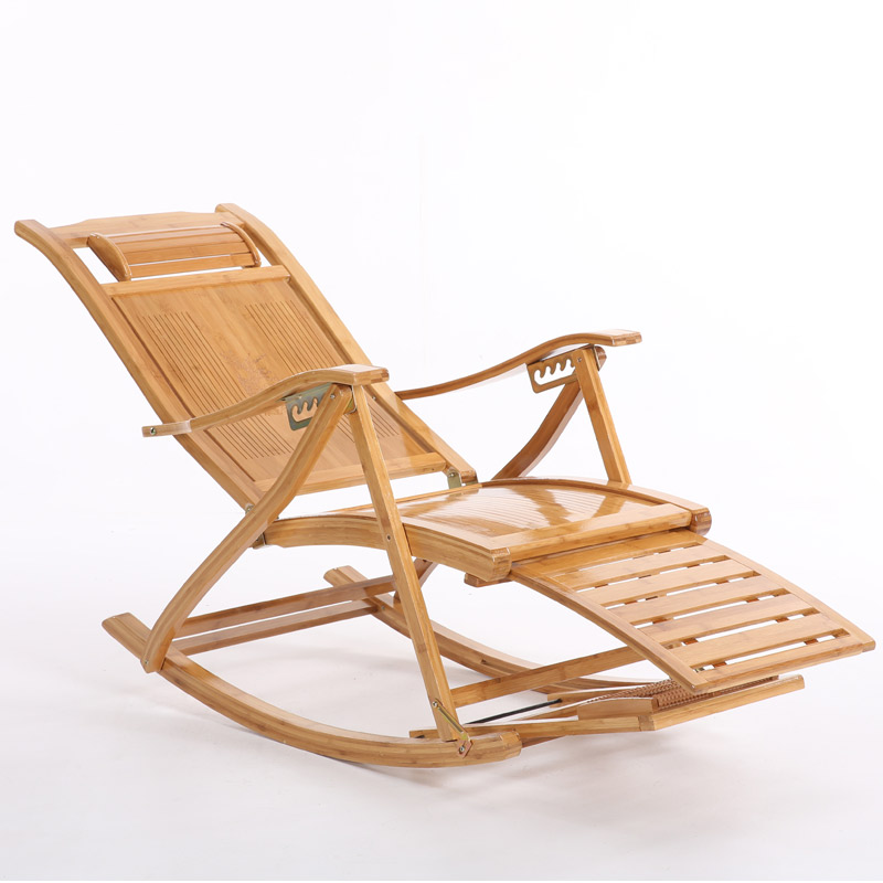 Superieur Folding Rocking Chair Armchair W/Footrestu0026Massage Mahogany Finish Foldable  Rocker Outdoor Patio Furniture Bamboo Chair Recliner In Living Room Chairs  From ...