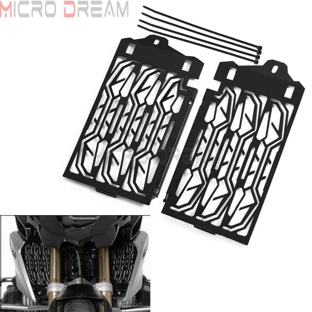 Black Radiator Grill Guard Motorcycle Water Cooled Protection Metal Grille For BMW R1200GS R 1200 GS 2013 2017
