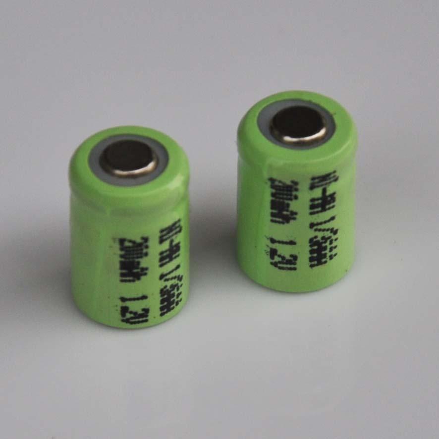 2-10 Uds 1,2 V 1/3AAA Ni-MH 200mah batería recargable 1/3 AAA nimh celda de pestañas para luz solar LED