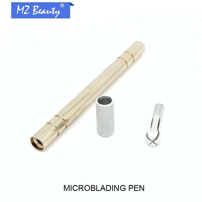 ⑥stop Instrukcja Tatuaż Pióro Gloden Microblading Pen