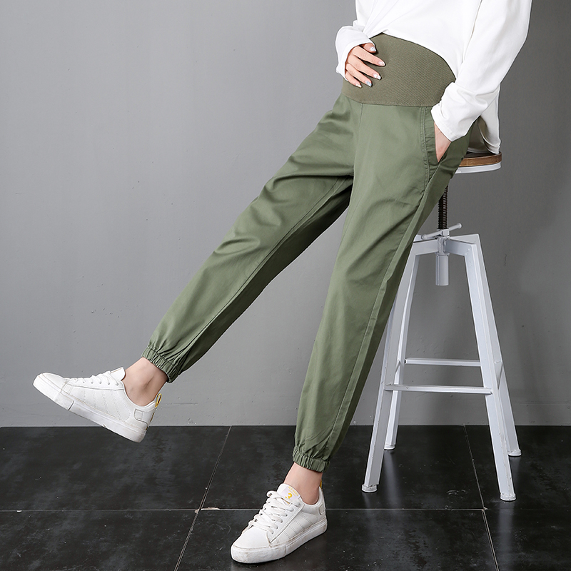 Home-Leggings Maternity-Pants Oversized Pregnant-Casual Trouser Women Yuanjiaxin Elastic