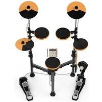 Складные Набор электронных барабанов комплект стенд перкуссия встроенный метроном 25 групп барабаны тонов 43 групп аккомпанемент MIDI Jack