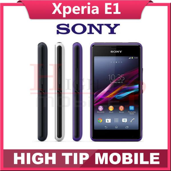 """Abierto original sony xperia e1 d2005 dual-core 4.0 """"pantalla táctil 3.15mp cámara phonoe móvil reformado 1 año de garantía"""