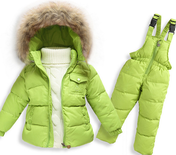 En Ji Ka children boys and girls down jacket suits overalls suit jacket thickened infant baby ka ji en girls down jacket boy child baby jacket wool tie cap thicker coat baby jacket