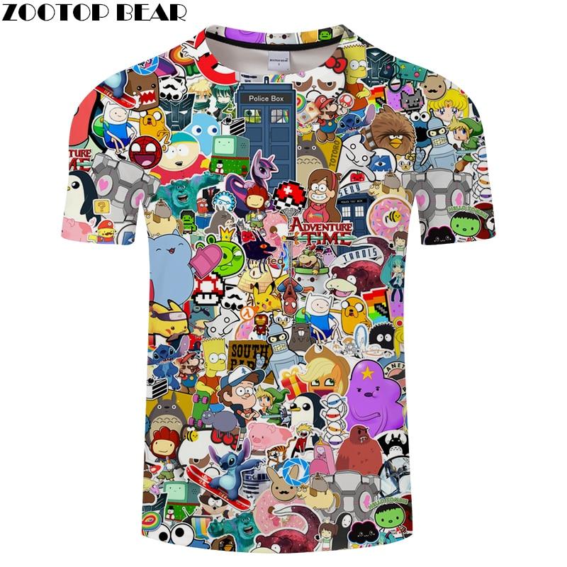 Lovely Animal&Children 3D Print t shirt Men Women tshirts Summer Anime Short Sleeve O-neck Tops&Tees 2018 Drop Ship ZOOTOP BEAR