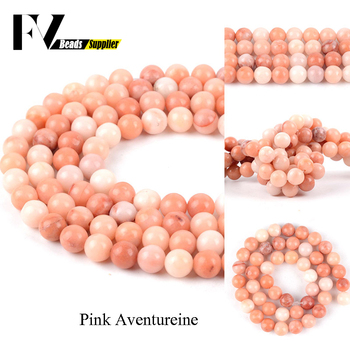 Natural Stone Pink Aventurine Beads For Jewelry Making Matte Round Loose Spacer Beads 4 6 8 10 12mm DIY Bracelets Necklace image