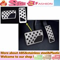 Top Quality car Styling frame cover Aluminium alloy car foot Gas/petrol/oil Brake Rest Pedal For 9eep Grand Cherokee AT 2pcs