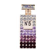 Unique cheap rhinestone brooch purple cool pins broches jewelry fashion female perfume bottle brooch lot free dropship suppliers